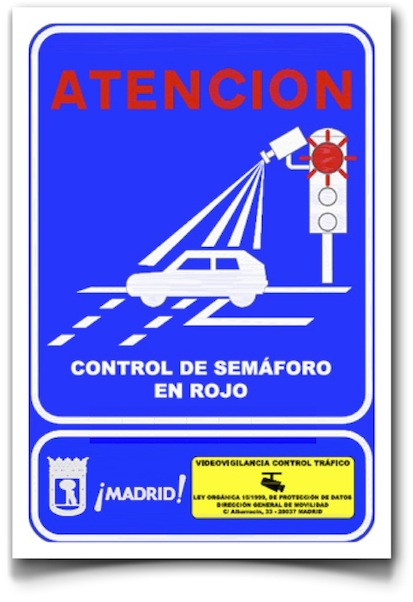 Control semáforo en rojo